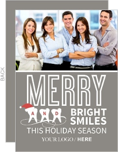 Merry Bright Dentist Holiday Card