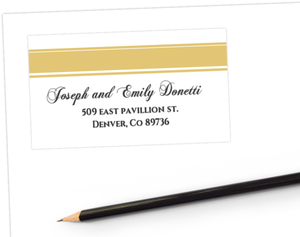 Gold Monogram 50Th Anniversary Address Label