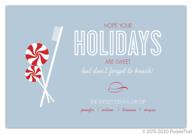 sweet treats dental holiday card - Business Holiday Cards With Logo