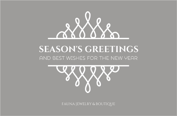 silver formal frame holiday card - Business Holiday Cards With Logo