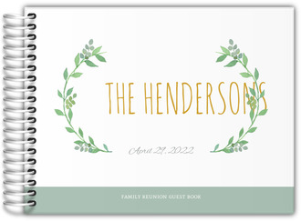 Watercolor Botanical Wreath Family Reunion Guest Book