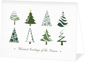 Fun Christmas Trees Business Holiday Card