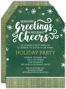 Modern Seasons Greetings Office Holiday Party Invitation