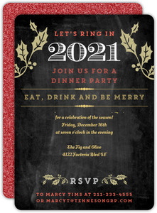 Good Bye Glitter Business Holiday Party Invitation