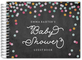 Colorful Confetti Chalkboard Baby Shower Guest Book