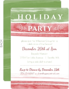 Winter Watercolor Business Holiday Party Invitation