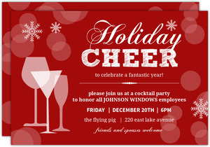 Holiday Glasses Business Holiday Party Invitation