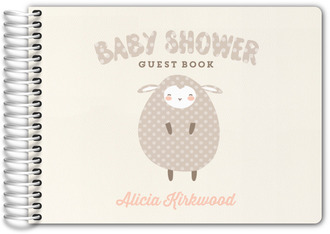 Polka Dot Little Lamb Baby Shower Guest Book