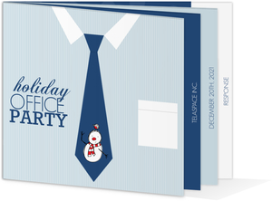 Snowman Tie Holiday Office Party Invitation