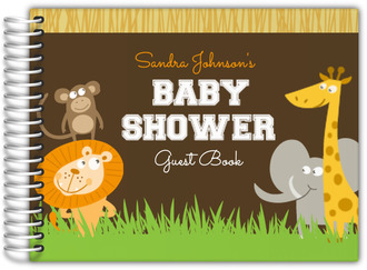 Safari Animals Baby Shower Guest Book