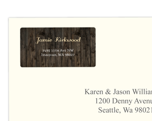 Rustic Woodgrain Address Label