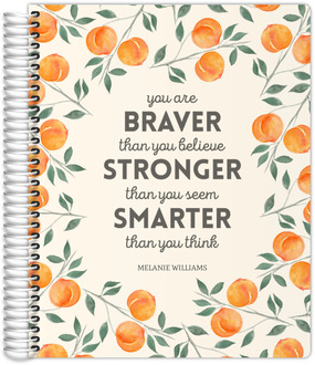 Watercolor Peach Quote Daily Planner