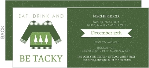 Forest Green Ugly Sweater Business Holiday Party Invitation