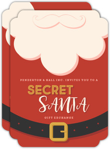 Suit and Beard Secret Santa Business Holiday Party Invitation