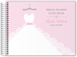 White Wedding Dress Bridal Shower Guest Book