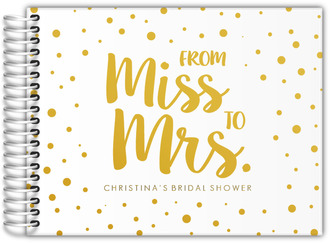 Miss To Mrs Real Foil Bridal Shower Guest Book