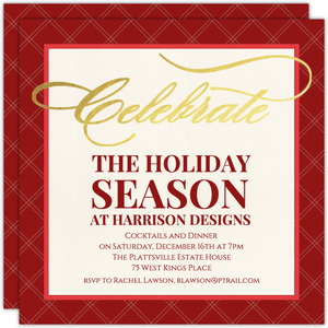 Business Holiday Party Invites