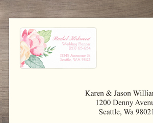 Soft Floral Watercolor Address Label