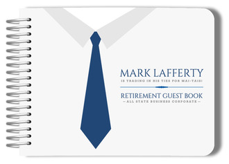 Business Tie Retirement Guest Book