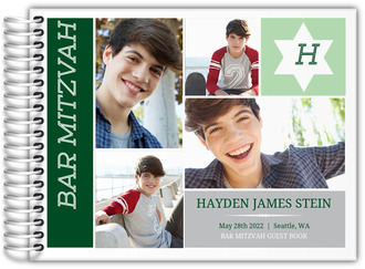 Monogram Photo Bar Mitzvah Guest Book