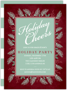 Wintergreen Frame Business Holiday Party Invitation