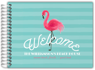Flamingo Stripes Vacation Home Guest Book
