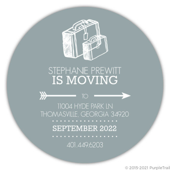 business moving announcements simple circle business moving