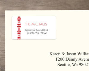Classic Poinsettia Pattern Address Label