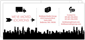 Infographic Cityscape Icons Moving Announcement