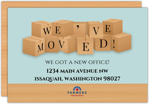 Moving Boxes Business Moving Announcement