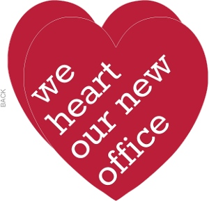 Red New Office Love Business Moving Announcement