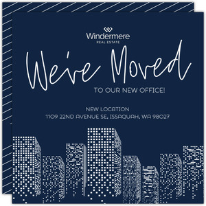 Gradient Office Buildings Business Moving Announcement