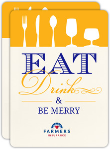 Eat Drink And Be Merry Business Party Invitation