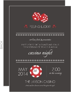 Red Casino Party Invitation