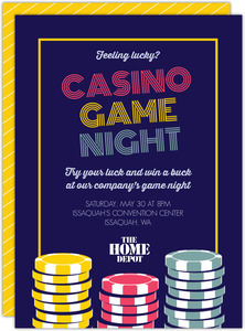 Retro Casino Business Party Invitation
