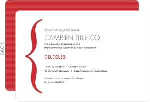 Red Simple Bracket Party Invitation