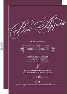 Purple Modern Lettering Formal Dinner Invitation