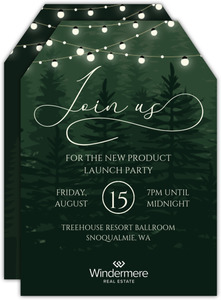 Evergreen Enchanted Business Party Invitation