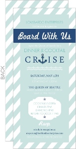 Nautical Anchor Business Party Invitation