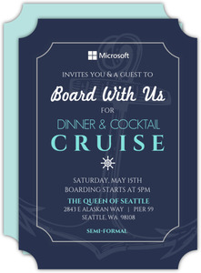 Nautical Cruise Business Party Invitation