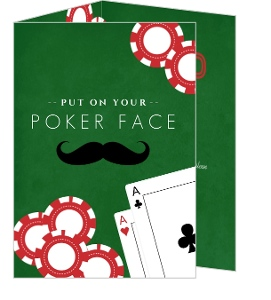 Green Felt Poker Business Party Invitation