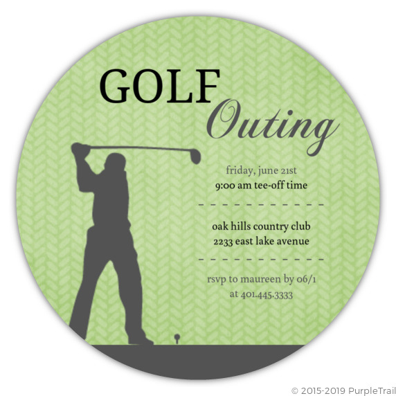green golf outing business party invitation