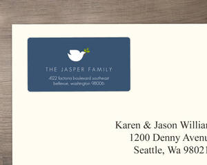 Simple Elegant Dove In Blue Address Label