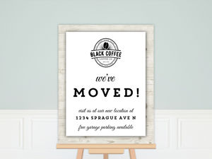Rustic Wood Border Moving Poster Print