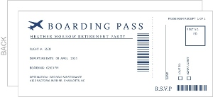 Leaving Jetplane Airline Employee Retirement Party Invitation