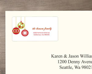 Hanging Ornaments Address Labels