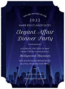 Hollywood City Night Corporate Event Invitation