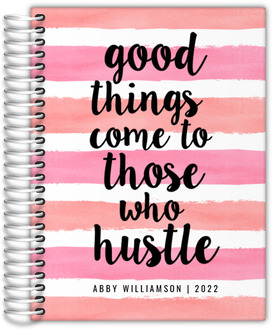 Good Things Watercolor Stripes Teacher Planner