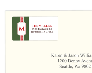 Green And Red Address Label