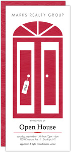 Modern Red Door Corporate Open House Invitations